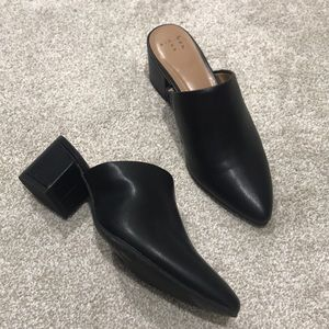 Bianca black leather mules, 6